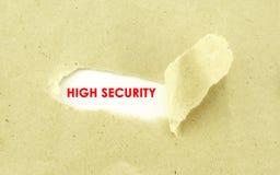 hög säkerhet Arkivfoton