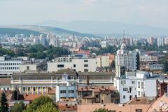 Hög sikt av den Cluj Napoca staden Fotografering för Bildbyråer