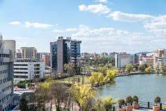 Hög sikt av den Cluj Napoca staden Royaltyfria Foton