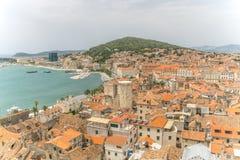 Hög sikt av kluven Kroatien Arkivfoton