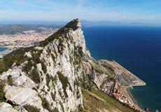 Hög sikt av Rock av Gibraltar (Calpe) royaltyfri fotografi