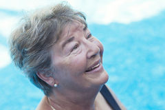hög simningkvinna Fotografering för Bildbyråer