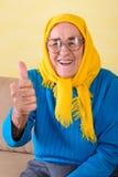 hög sittande kvinna Fotografering för Bildbyråer