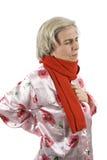 hög sjuk kvinna Arkivfoton