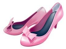 hög sko för häl stock illustrationer