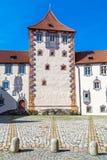 Hög slott i Fuessen Arkivfoton
