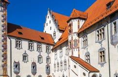 Hög slott i Fuessen Arkivfoto