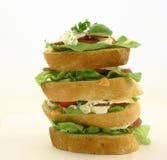 hög smörgås Arkivbilder
