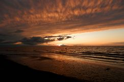 hög solnedgång för jpgupplösningshav Royaltyfri Foto