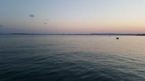 hög solnedgång för jpgupplösningshav arkivfoto