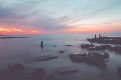 hög solnedgång för jpgupplösningshav Royaltyfria Bilder