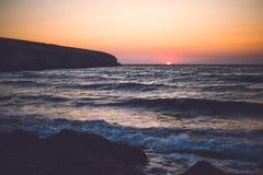 hög solnedgång för jpgupplösningshav Royaltyfri Bild