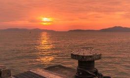 hög solnedgång för jpgupplösningshav Royaltyfri Fotografi