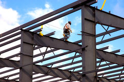 hög stålarbetare Arkivfoton