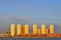 hög stigning för byggnader arkivfoto