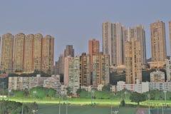 hög stigning för byggnader Vägbankfjärd, hk-ö arkivbilder