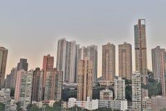 hög stigning för byggnader Vägbankfjärd, hk-ö royaltyfri bild