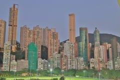 hög stigning för byggnader Vägbankfjärd, hk-ö royaltyfri foto