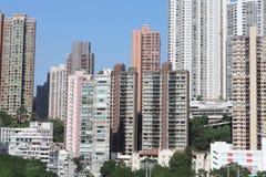 hög stigning för byggnader Vägbankfjärd, hk-ö royaltyfri fotografi