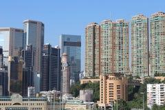 hög stigning för byggnader Vägbankfjärd, hk-ö royaltyfria bilder