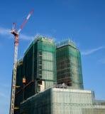 hög stigning för byggnadskonstruktion royaltyfri foto