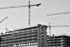 hög stigning för byggnadskonstruktion under Arkivbild