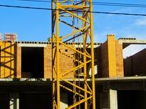 hög stigning för byggnadskonstruktion under royaltyfri foto