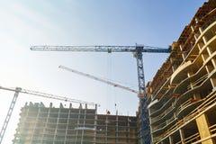 hög stigning för byggnadskonstruktion under royaltyfri bild