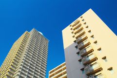 hög stigning för hyreshusar fotografering för bildbyråer