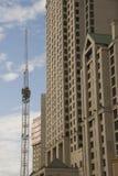 hög stigning för konstruktion arkivbilder
