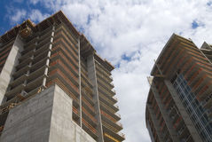 hög stigning för konstruktion arkivfoto