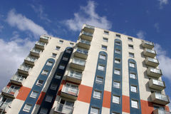 hög stigning för lägenheter Arkivfoto