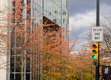 hög stigning för stad arkivbilder
