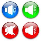 hög stum högtalare för knappar Royaltyfria Bilder