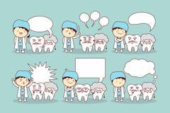 Hög tand med anförandebubblan Arkivfoton