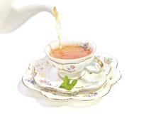 hög tea för kopp fotografering för bildbyråer