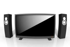 hög television för definition vektor illustrationer