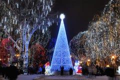 hög teqtree för jul Arkivbilder