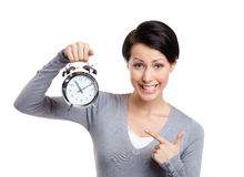 Hög tid att vakna upp. Slös bort inte din tid Arkivfoton