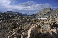 hög toppig bergskedja för nevada passerandeherde Arkivfoto