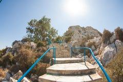 Hög trappa i berget Royaltyfri Bild