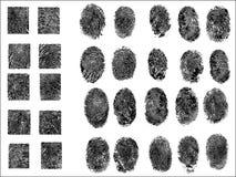 Hög upplösning för 30 specificerad fingeravtryck mycket Arkivbild