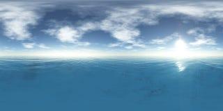 Hög upplösningsöversikt för HDRI, land under himmel vektor illustrationer