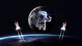 Hög upplösningsbild av rymdfärjan som tar av Royaltyfri Bild