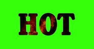 Hög upplösningstext med varm form för ord fyllde med den verkliga flamman vektor illustrationer