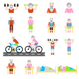 Hög uppsättning för livsstillägenhetsymboler Fotografering för Bildbyråer