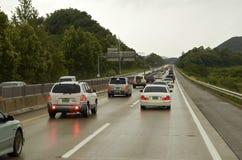 hög väghastighet Fotografering för Bildbyråer