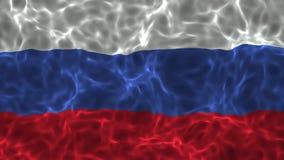 hög video för definition 4K av den realistiska krabba Ryssland flaggan
