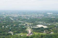 Hög vinkel av Chiang Mai Royaltyfri Fotografi