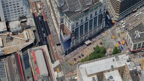 Hög-vinkel sikt av ett stort varuhus i Manhattan lager videofilmer